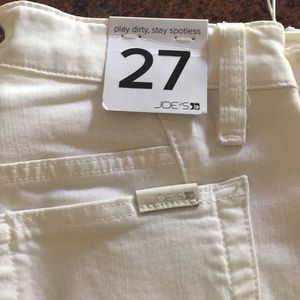 Joe's Jeans White Size 27 Play Dirty NWT